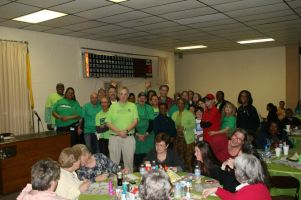 "On that night, Team Maryland had present, 18 recipients, three living donors and five donor families. The team posed for a photo, in green of course, promoting  ""Be Seen In Green Day"" which was on April 19th."