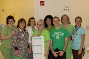 GBMC emergency room staff delighted to be seen in green on 4/19!