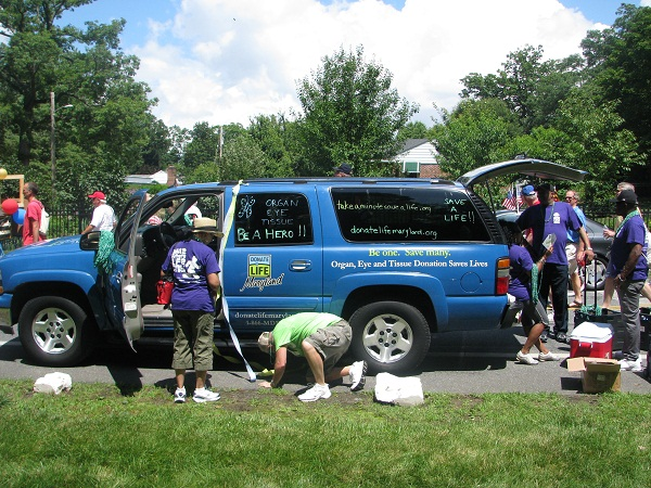 The LLF Van getting dressed up for the parade!